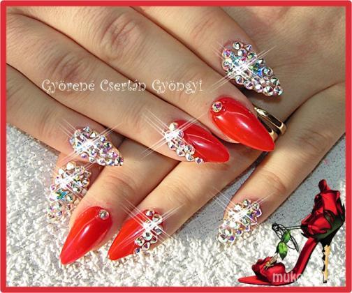 Györené Csertán Gyöngyi Pink Cadillac Professional Nails Körömszalon Diamond